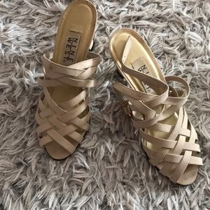 Nine West Strappy Heels with open toe